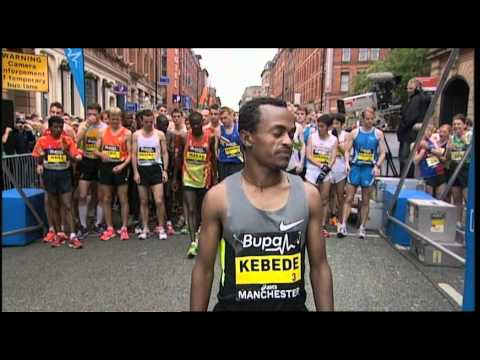 Tsegaye Kebede - Haile Gebrselassie attempts to win a 5th Bupa Great Manchester Run, as he leads the the UKs biggest 10km road race through the streets of Manchester. He will...