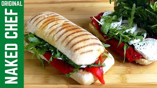 Grilled Panini cheese ham tomato & peppers perfect toasted sandwich recipe