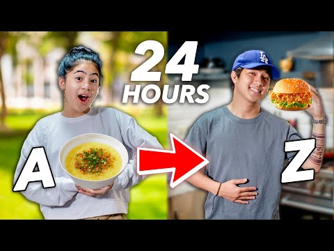 Eating In Alphabetical Order!! (A To Z Food Challenge) | Ranz and Niana