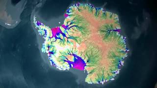 These animations shows the motion of ice in Antarctica as measured by satellite data from the Canadian Space Agency, the ...