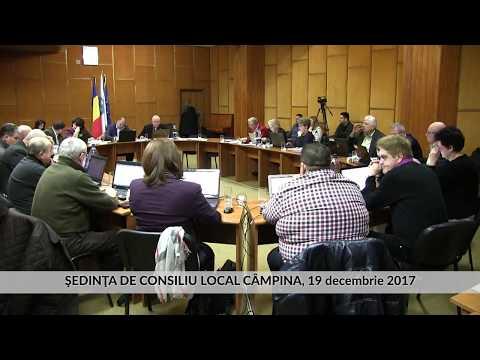 Sedinţa Consiliu Local Câmpina 19 decembrie 2017