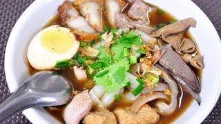 [Thai Food] Thick Crunchy Pork Soup (Guay Jub Nam Kon)