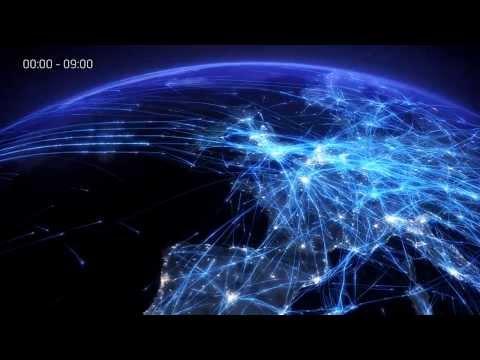 Animacija zračnega prometa nad Evropo