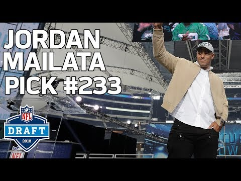 Video: Australian Rugby Player Jordan Mailata Gets Selected by Eagles | 2018 NFL Draft