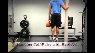 Exercise Index: Standing Calf-Raise with Kettlebell