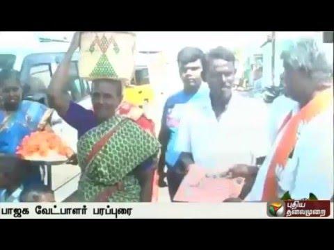 BJP-Candidate-Maharajan-Seeks-Votes-in-Nellai