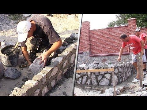 Кладка бутового камня | Обучение Сереги каменному ремеслу
