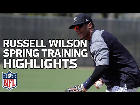 Video: Russell Wilson Spring Training Highlights with Yankees | NFL