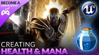 Today we take a look at how we can set up the health and mana variables to use later on in the series.In addition to the above, we also create UI bars for both the health & mana and get them displayed on the screen.Unreal Engine 4 Beginner Tutorial Series:https://www.youtube.com/playlist?list=PLL0cLF8gjBpqDdMoeid6Vl5roMl6xJQGCBlueprints Creations Serieshttps://www.youtube.com/playlist?list=PLL0cLF8gjBpoojQ7YqsSsxycBe5S3ikkV► Next VideoIn the next video we'll continue to bring our role playing game to life.♥ Subscribe for new episodes weekly! http://bit.ly/1RWCVIN♥ Don't forget you can help support the channel on Patreon! https://www.patreon.com/VirtusEduVirtus Learning Hub // Media● Facebook Page - https://www.facebook.com/VirtusEducation●Twitter Page - http://www.twitter.com/virtusedu● Website - http://www.virtushub.co.uk