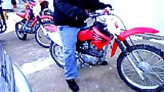 6. 2005 Honda crf100 dirt bike