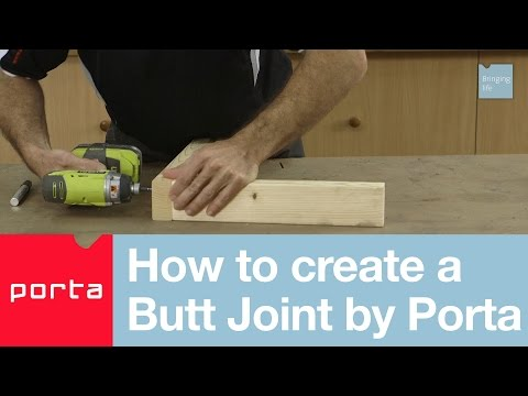 How to create a Butt Joint by Porta