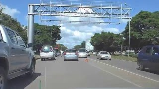 Lusaka Zambia  city pictures gallery : DashCam - 002 - In a Taxi in Lusaka Zambia Feb 2016