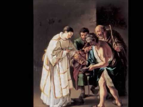 san lorenzo. il santo che donava ai poveri i beni della chiesa.