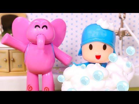 POCOYO  Elly and Pocoyo Have Colored Bubble Bath  Pocoyo in English