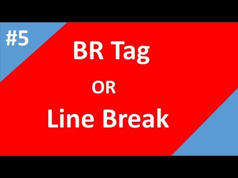 Html Line Break Or Html Br Tag | Part - 5 | Html Tutorial For Beginners | Tech Talk Tricks