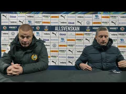 Presskonferens efter ÖSK – Hammarby IF