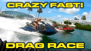 MORE SPEED * Sea-Doo RXT-X 300 Riva SCOM Install vs Yamaha FX Limited SVHO in a Drag Race by DragTimes