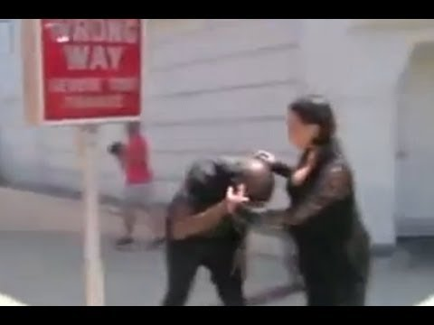 Kanye hits head on street sign and FLIPS on photogs [VIDEO]