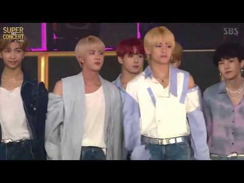 BTS' (방탄소년단) Entrance @ SBS Super Concert in Taipei