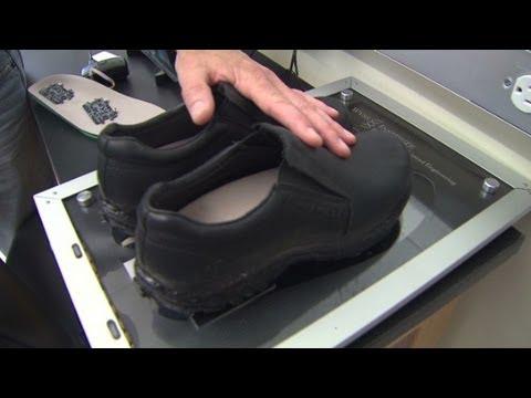 Vibrating shoes to keep elderly upright