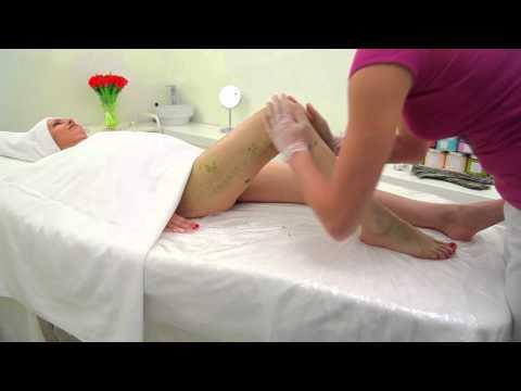 Пилинг тела при помощи водорослево-солевого скраба видео