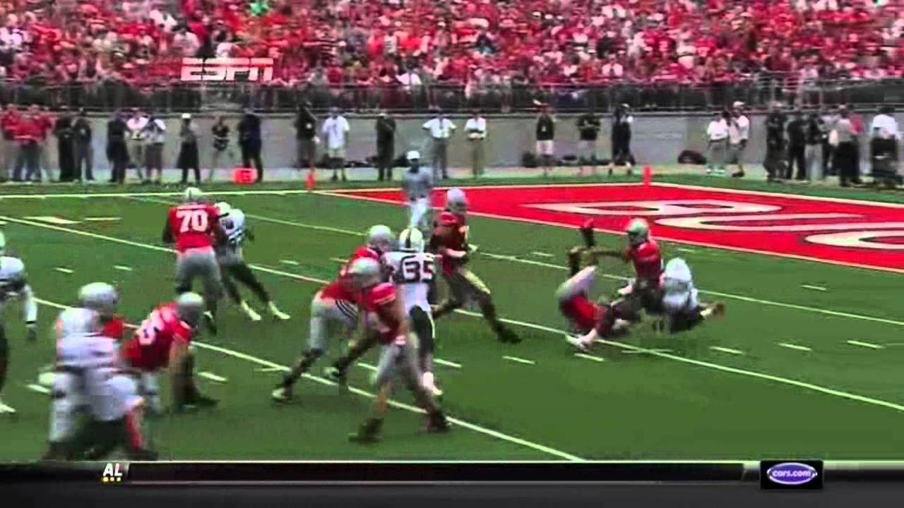 Ray Ray Armstrong vs Ohio State 2010