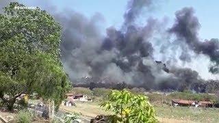 Incêndio atinge cooperativa de recicláveis na Vila Dutra em Bauru