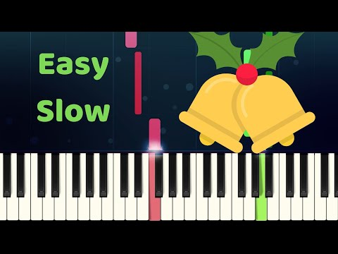 CAROL OF THE BELLS - Easy Slow Piano Tutorial with SHEET MUSIC