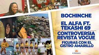 El Bochinche – El Alfa Ft.Tekashi69 – Portada con Playa en basura – Figuras con el Gistro Amarillo – El Mañanero