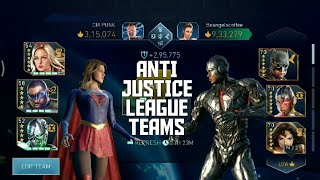 INJUSTICE 2 MOBILE: ANTI JUSTICE LEAGUE TEAMS