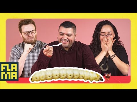 People Try A Mezcal Worm