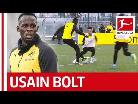 Usain Bolt´s Training Day at Borussia Dortmund - Skills, Sprints and Nutmegs (видео)