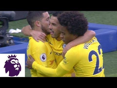 Video: Eden Hazard creates a goal for Pedro against Brighton | Premier League | NBC Sports