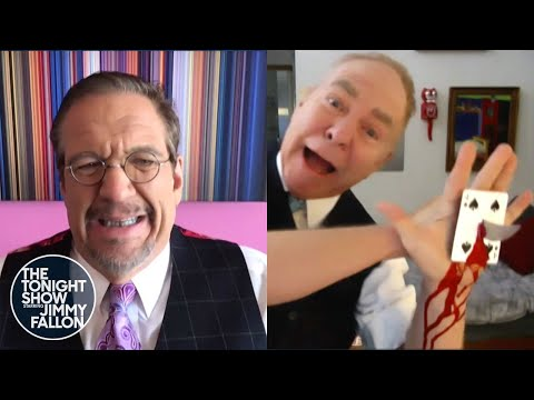 Penn & Teller Perform a Special Card Trick for Jimmy