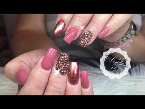 Gel nails - Madam Glam Gel Polish & Metallic Polish with Crystals