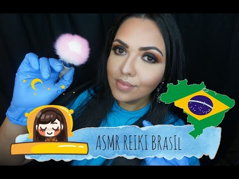 Limpando suas Enegias Negativas Luvas e Pincel na tela ASMR Brasil