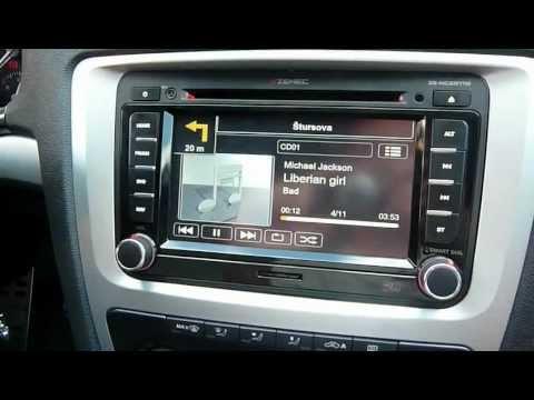 Zenec Ze-nc2011D - rádio pro Škodu, Volkswagen, Seat