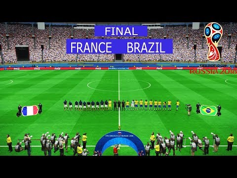 PES | FINAL FIFA World Cup 2018 | FRANCE Vs BRAZIL | Full Match | Gameplay PC