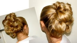 Tuto Coiffure #45 : Chignon Romantique, Chic et Facile / Easy Romantic Bun Hairstyle - YouTube