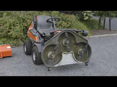 Садовый райдер бензиновый HUSQVARNA R 420TSX AWD - видео №1