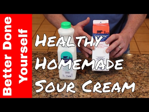 How To Make Homemade Sour Cream  Lactose Free !