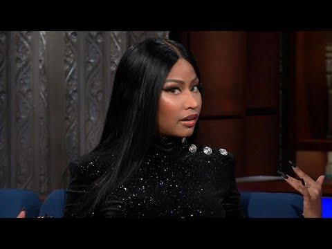 Nicki Minaj Makes Stephen Colbert Blush With Flirty Rap - Watch!