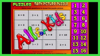 Learning Games : Math picture puzzles - Fun Learning GamesDrag each number to the matching math problem to reveal the hidden picture.Play: http://www.thekidzpage.com/learninggames/math_picture_puzzles/addition-to16-monkies.html