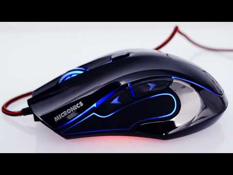 Peso ideal - Mouse Gamer Micronics - Fisher - 4000 dpi - Peso extra, 4 colores - ideal para juegos.