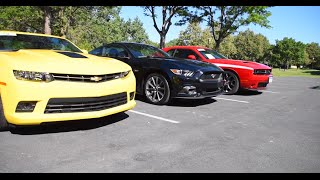 2015 American Muscle Car Shoot Out | 5.0 Mustang GT - Camaro SS (2014) - Dodge Challenger