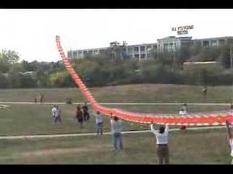 kite - 300 ft giant Chinese Dragon kite at East Meets West Kite and Cultural Festival, Boston, MA October 2007.