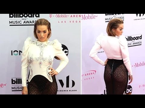 Rita Ora Gives A Mini Peep Show While Wearing A Sexy Sheer Skirt