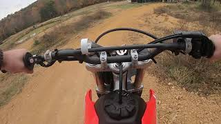 5. First track ride on the 2020 CRF250F
