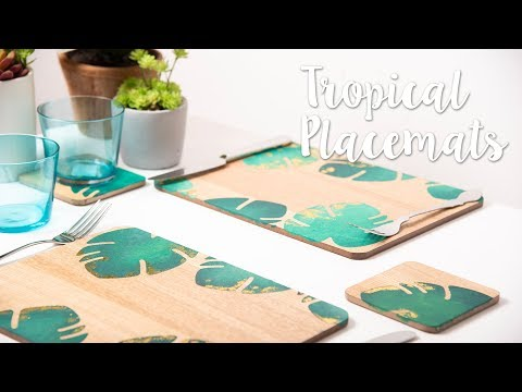 Tropical Placemats - Sizzix