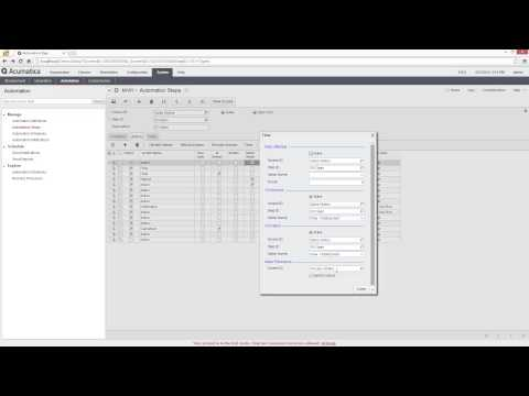 Acumatica Workflow Automation and Overview